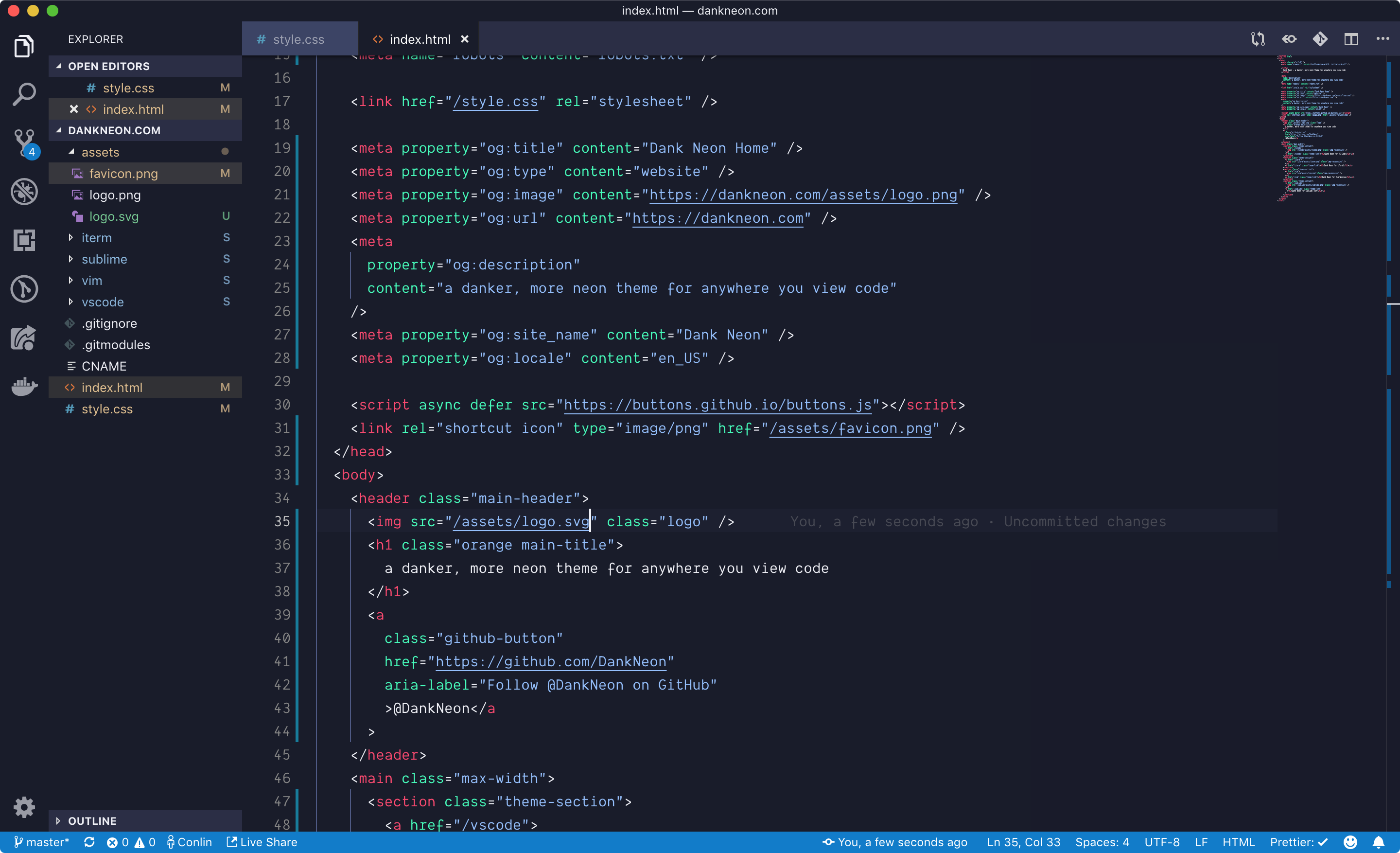 dank neon for vs code